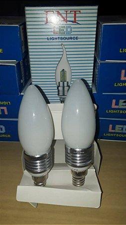 KIT 2 UNID. LAMPADA LED VELA LISA FOSCA 05W BF E14 ENT
