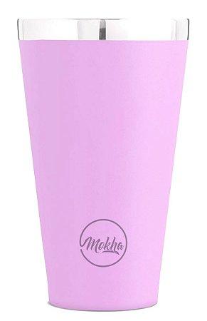 Copo Térmico de Cerveja Magic Beer Rosa 473ml - MOKHA