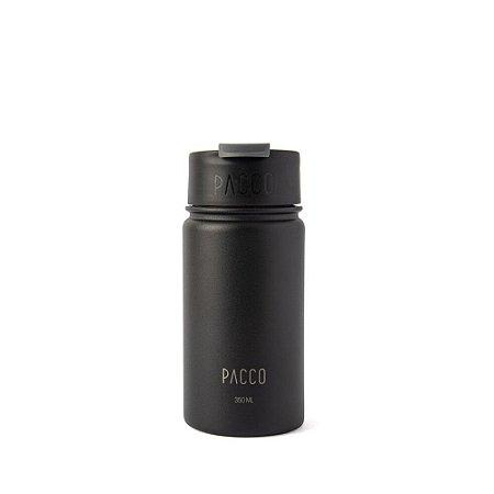 Tumbler Térmico com Infusor 350ml Preto - PACCO