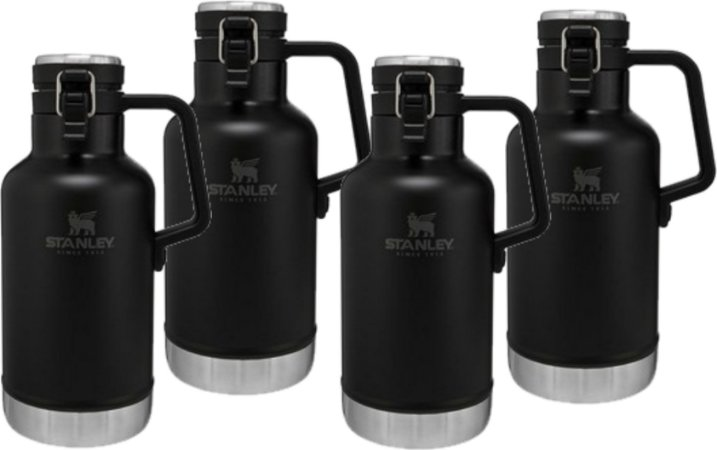Kit Promocional - 4 Growlers Térmicos Preto Fosco - STANLEY