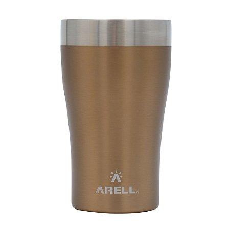 Copo Térmico de Cerveja 500ml Dourado Metallic Gold - Arell