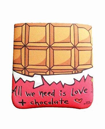 BAG DE PROTEÇAO PARA POWERBANK ALL WE NEED IS CHOCOLATE