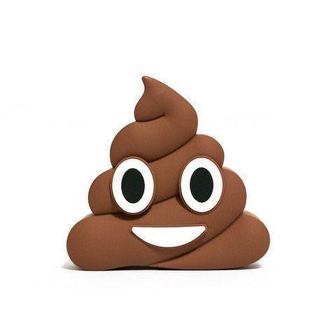 """Carregador Portátil """"Powerbank"""" Emoji - Poop cocô marrom"""