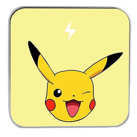 """Carregador Portátil """"Powerbank"""" Pikachu com 7.800 mAh"""