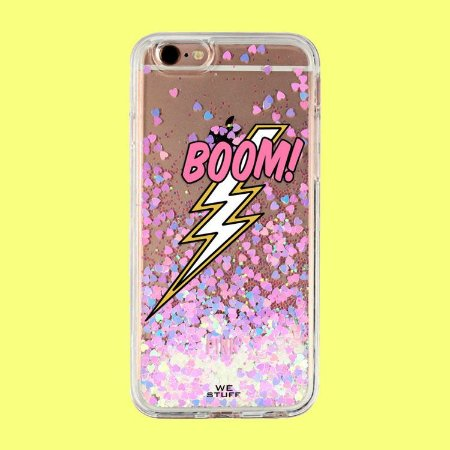 "Capa para Celular ""Case"" Boom Glitter"