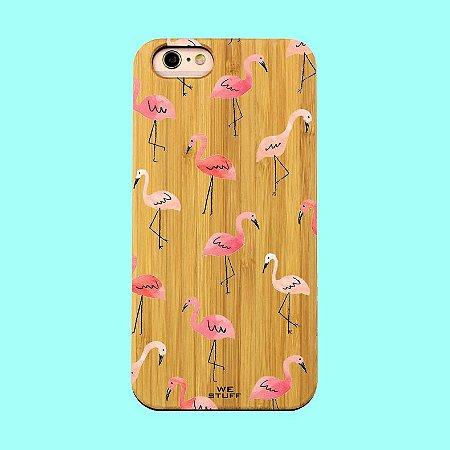 """Capa para Celular """"Case"""" Flamingos Bambu"""