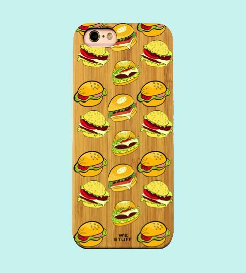 "Capa para Celular ""Case"" Hambúrguer Bambu"