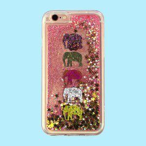 "Capa para Celular ""Case"" Elefantes Glitter"