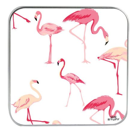 "CARREGADOR PORTATIL ""POWERBANK"" STYLE FLAMINGOS COM 7.800 mAh"