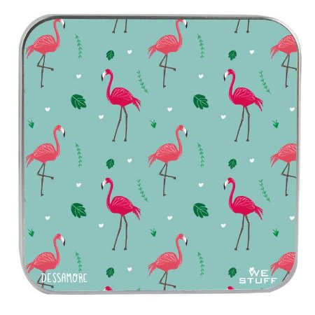 "CARREGADOR PORTATIL ""POWERBANK"" STYLE MUITO FLAMINGO COM 7.800 mAh BY DESSAMORE"