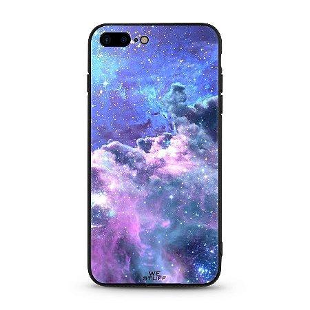 """Capa para Celular """"Case"""" Galáxia de Vidro Temperado"""