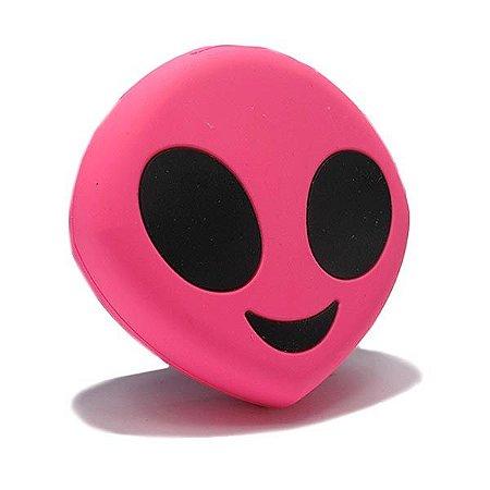 """Carregador Portátil """"Powerbank"""" Emoji - Pink Alien"""