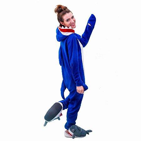 0a5aa1b5ca Pijama Kigurumi de Tubarão
