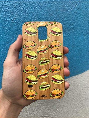"Capa para Celular ""Case"" Hambúrguer Bambu Samsung"
