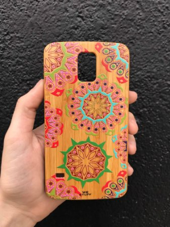 """Capa para Celular """"Case"""" Mandala Bambu Samsung"""