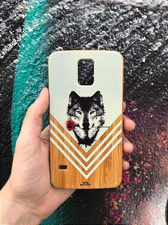 """Capa para Celular """"Case"""" O Lobo e a Rosa Bambu Samsung"""