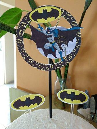 BATMAN CIRCULAR TOPO DE BOLO (PAPEL FOTOGRÁFICO)