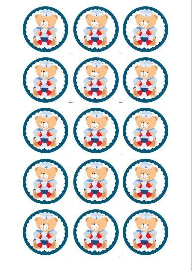 URSINHO MARINHEIRO 002 MEDALHAO 5 CM - (CORTADO) 15 UNIDADES