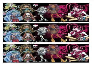 MONSTER HIGH FAIXA LATERAL 002 A4