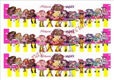 EVER AFTER HIGH FAIXA LATERAL 002 A4