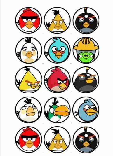 ANGRY BIRDS 001 MEDALHAO 5 CM (CORTADO)