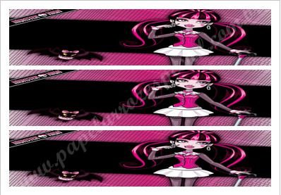 MONSTER HIGH FAIXA LATERAL 004 A4