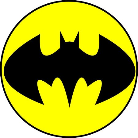 Batman Simbolo 19 Cm Papel Arroz Especial