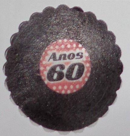ANOS 60 001 MEDALHAO 5 CM - 15 UNIDADES CORTADO