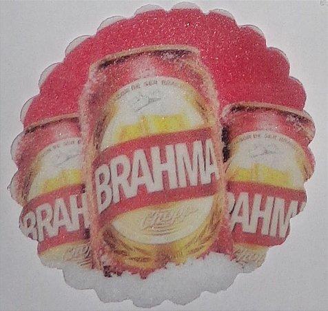 BRAHMA 001 MEDALHAO 5 CM  - 15 UNIDADES CORTADO