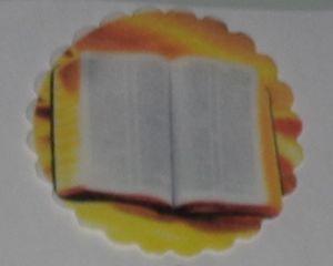 BIBLIA 001 MEDALHAO 5 CM - 15 UNIDADES CORTADO