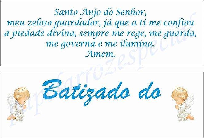 KIT BATIZADO MENINO COM NOME  (02 PAPEIS A4)