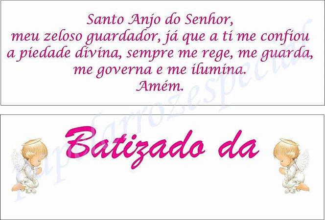KIT BATIZADO MENINA COM NOME (02 PAPEIS A4)