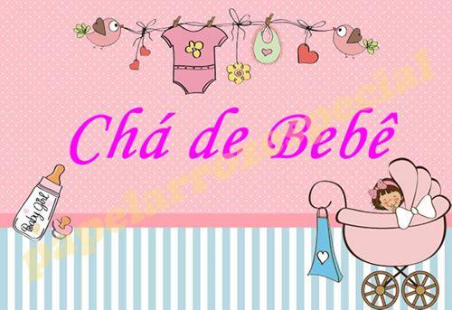 COMBO CHA DE BEBE 003 MENINA (PAPEL + FAIXA + CONFEITOS)
