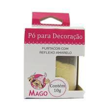 PÓ DECORAÇÃO MAGO FURTACOR COM REFLEXO AMARELO 10G