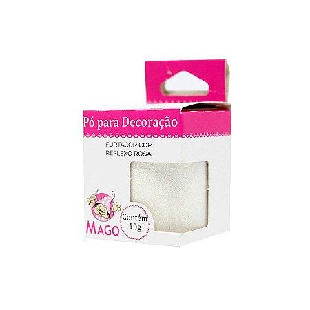 PÓ DECORAÇÃO MAGO FURTACOR COM REFLEXO ROSA 10G