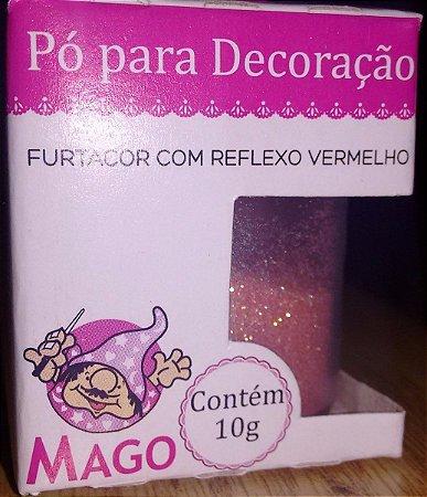 PÓ DECORAÇÃO MAGO FURTACOR COM REFLEXO VERMELHO 10G
