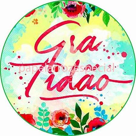 GRATIDÃO 002 19 CM - PAPEL ARROZ ESPECIAL 039c397ddf9