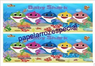BABY SHARK FAIXA LATERAL 002 9 CM