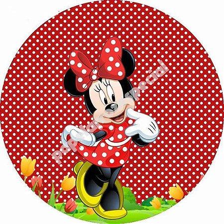 Minnie Vermelha 001 Adesivo Para Latinha Tubete Cortado Papel