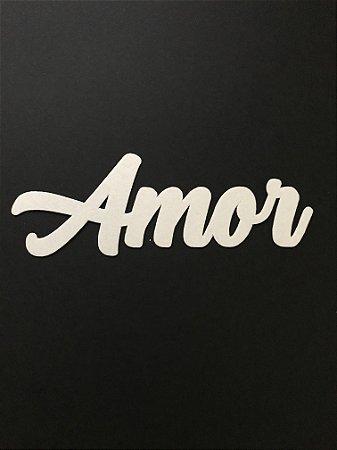 AMOR PALAVRA RECORTADA PAPEL ARROZ PREMIUM (13 CM)