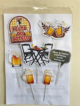 FESTA DO BOTECO TOPO DE BOLO (PAPEL FOTOGRÁFICO)