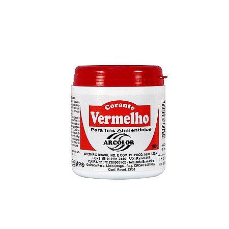 CORANTE EM PÓ ARCOLOR VERMELHO 100G