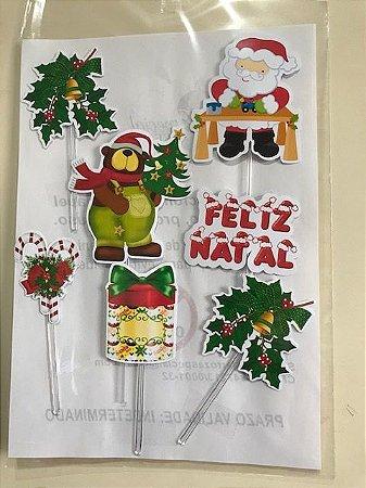 NATAL 006 TOPO DE BOLO (PAPEL FOTOGRÁFICO)