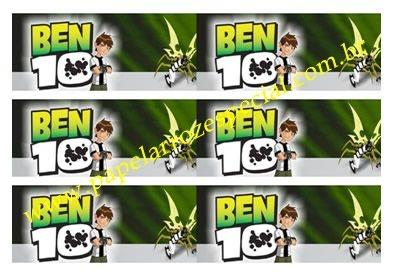 BEN 10 FAIXA LATERAL 001 A4 3 UNIDADES 6X27,7