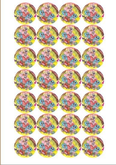GUMBALL 002 MEDALHÃO 4 CM 28 UNIDADES
