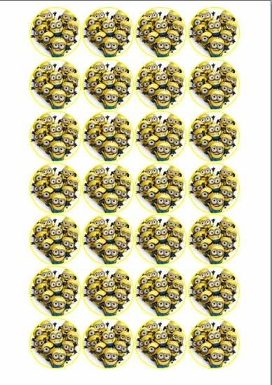 MINNIONS MEDALHÃO 002 4CM 24 UNIDADES