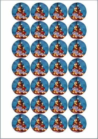 NATAL 002 MEDALHÃO 4CM (24 UNIDADES)