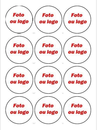 MEDALHÃO 6 CM - CUPCAKES, PIRULITOS E AFINS - PERSONALIZADO 12 UNIDADES