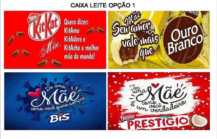 DIA DAS MÃES PARA CAIXA LEITE (PAPEL ARROZ)