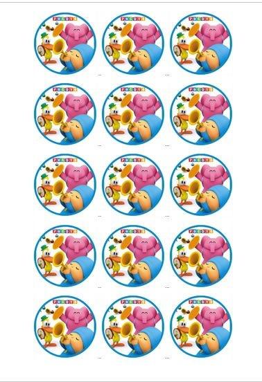POCOYO MEDALHÃO 003 5 CM  (CORTADO) - 15 UNIDADES